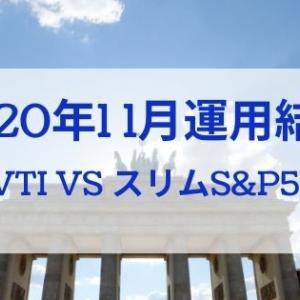 【楽天VTIが圧倒!】2020年11月運用結果報告(楽天VTI vs eMAXISスリムS&P500)