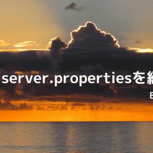 【BDS】server.propertiesを編集してサーバーの設定を変える