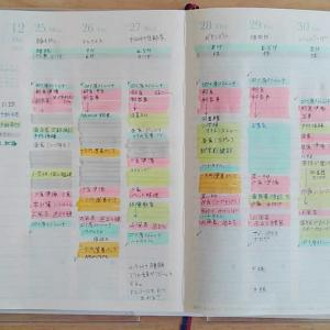 日の長さを感じる手帳 Weekly 11/25~12/1