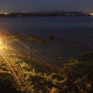 夜鉄:村上の海      (羽越本線)