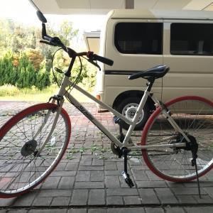 自転車に乗った。