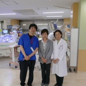 「訪問の家」の名里理事長のこども医療センター新NICU訪問に感謝。。。