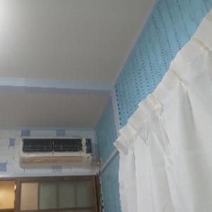 昨日キッチン用に買ってきたハンデイモップで天井を拭いてみる