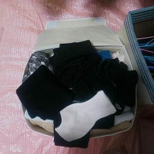 靴下とパンツとハンカチを押し入れにウォールポケットに収納