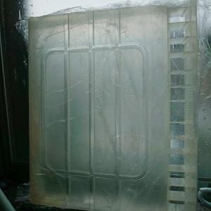 ワイドハイター紫外線パック、冷蔵庫ピカピカにする 途中経過