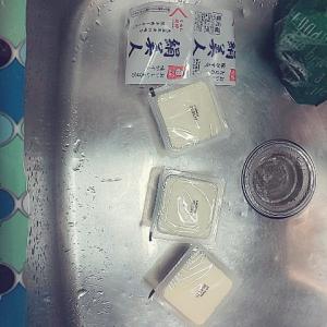 揚げ出し豆腐とほうれん草お浸し