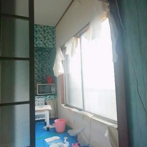 キッチン西側セスキ水壁パック