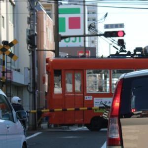 【風景写真】路面電車が走る伊予松山の町