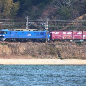 【鉄道写真】四郎谷をJR貨物 EF210-111電気機関車が通る!