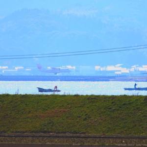 【風景写真】宍道湖西岸のシジミ漁!