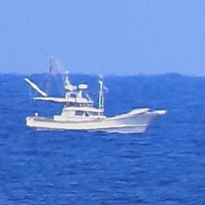 【船舶】日本海の貨物船と漁船