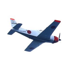 角島の空と海(T-5練習機とはりま丸)