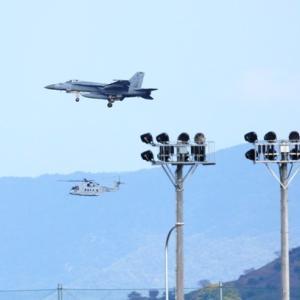 【航空機】海自MCH-101,EP-3と米海兵隊F/A-18Eスーパーホーネット