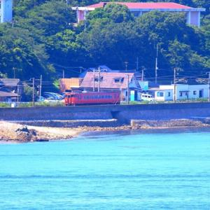 【鉄道風景写真】山陽本線神代駅付近を走る朱色キハ40気動車