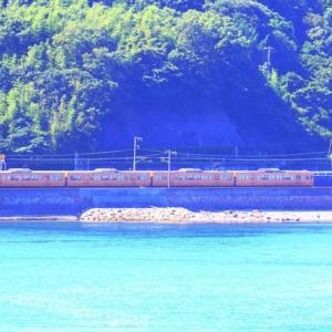 【鉄道風景写真】山陽本線大畠瀬戸から神代岬までのJR西日本115系電車4両
