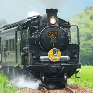 【鉄道写真】SLやまぐち号(C571)宇津根踏切の場合