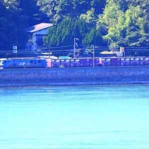 【鉄道写真】JR貨物のEF210-170電気機関車が大畠瀬戸を走る!