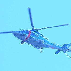 【航空機】山口県警察航空隊ヘリコプター「あきよし」10月27日