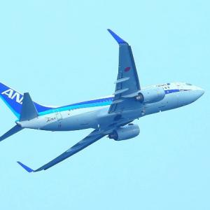 【航空機】岩国錦帯橋空港発ボーイング731-781ANA機南側離陸