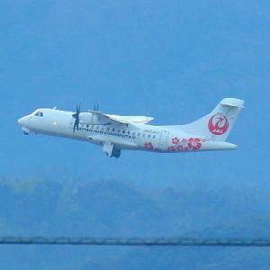 【航空機】日本エアーコミューター ATR-42-600ターボブロップ双発旅客機(出雲空港)