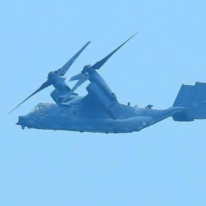 【航空機】へんてこなオスプレイのプロペラが水平から垂直に移る時!