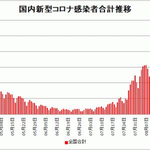 【新型コロナ情報】8月22日新たな感染者 国内計22,285人 東京都4,392人 大坂2221