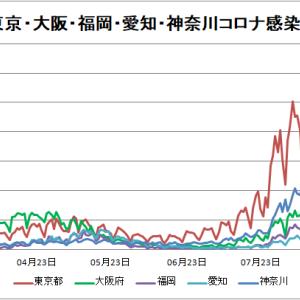 【新型コロナ情報】8月31日新たな感染者 国内計17,713人 東京都2,909人 大坂2347