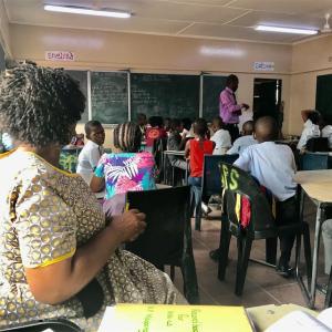 ボツワナにも授業観察ってあるんだ!