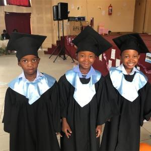 幼児クラスの卒業式