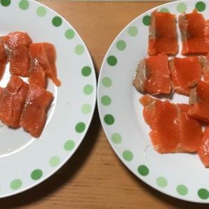 サーモン・蒲鉾・ポテトそして豚バラの燻製 一番おいしかったのは⁉