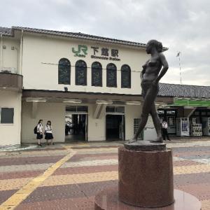 道の駅と駅前にある佐藤忠良の作品