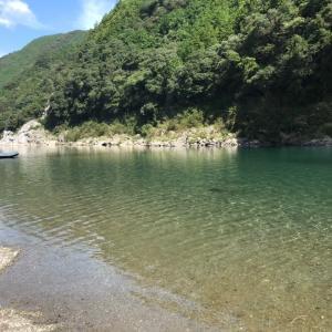 仁淀川でカヌー