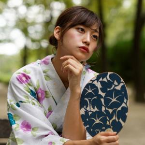浴衣 のんさん!─ その2 大阪 中津公園 ─