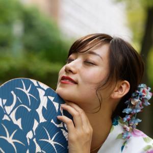 浴衣 のんさん!─ その3 大阪 中津公園 ─