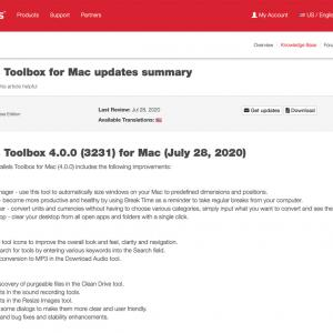 Parallels Toolbox for Mac、アップデート!