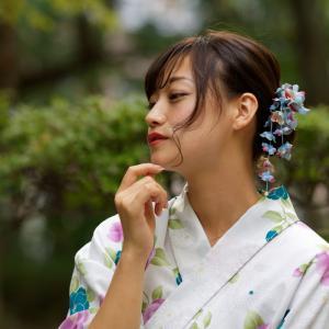 浴衣 のんさん!─ その4 大阪 中津公園 ─