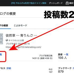 ブログ投稿数 2400 達成!