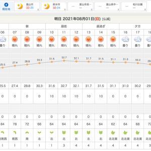明日の天気は大丈夫そう!