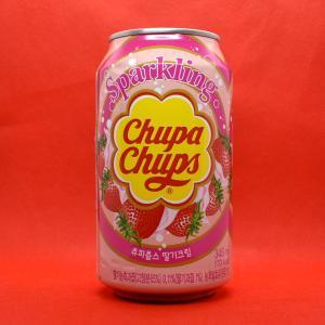 韓国輸入「チュッパチャップ・ストロベリー・スパークリング」は薄味のカルピスソーダいちご味に似ている