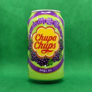 韓国輸入ドリンク「チュッパチャップス・グレープ・スパークリング」を実際に飲んでみると...普通のぶどう炭酸でしかなかった件