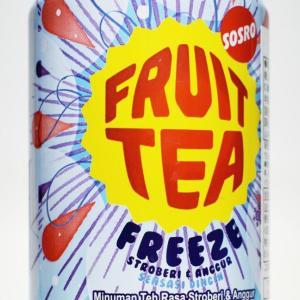 インドネシアのフルーツティー「SOSRO FRUIT TEA FREEZE」がヤバすぎ!激甘で強烈な魔剤感にメンソールで喉スース―
