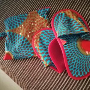 アフリカ布のスリッパ♡