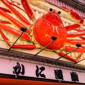 【大阪旅行記】3日目:かに、たこ焼き、うどん、肉まん!道頓堀から食べ歩く
