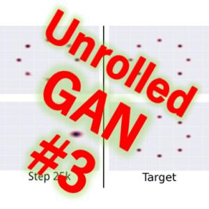 Unrolled GAN(3/4)学習メカニズムの考察