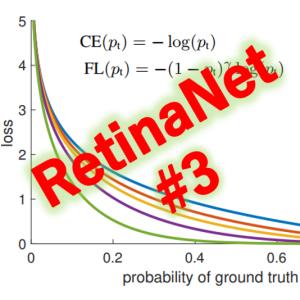 RetinaNet (3/4) フォーカルロスの効果