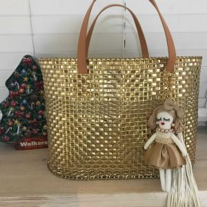 エレガントメッシュバッグ…金色のネット