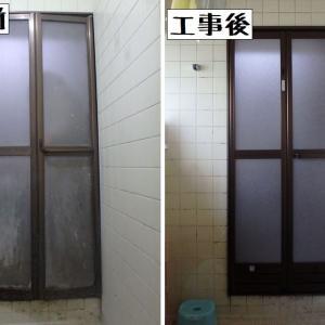 練馬区大泉町にて浴室折れ戸ドアの交換をしました(カバー工法にて)