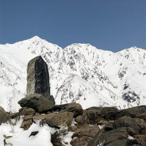 八方尾根 4月3日 快晴で北アルプスは絶景!下山コースの名木山は4月5日で終了。