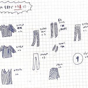 少ない服で過ごすためのインナーの総数と収納