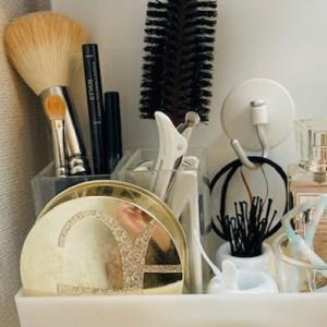 【洗面所のコスメ収納】細々した小物は無印良品フル活用で使いやすく